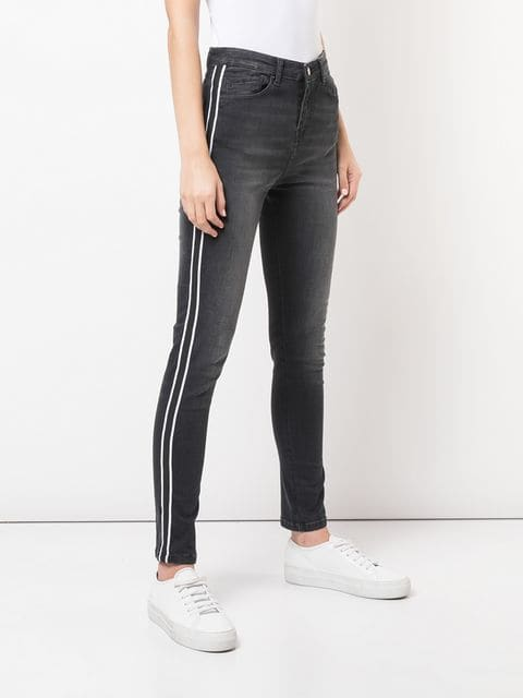 Nicole Miller High Rise Striped Jeans