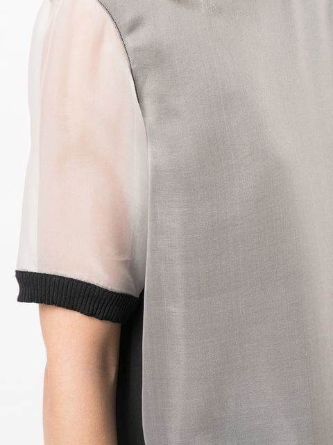 Nicole Miller Sheer Layered Top