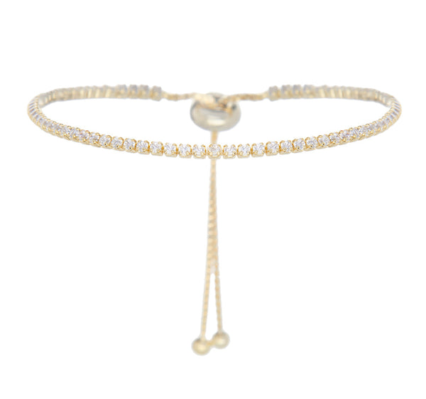 Jen Hansen Single Row Pull Bracelet in Gold