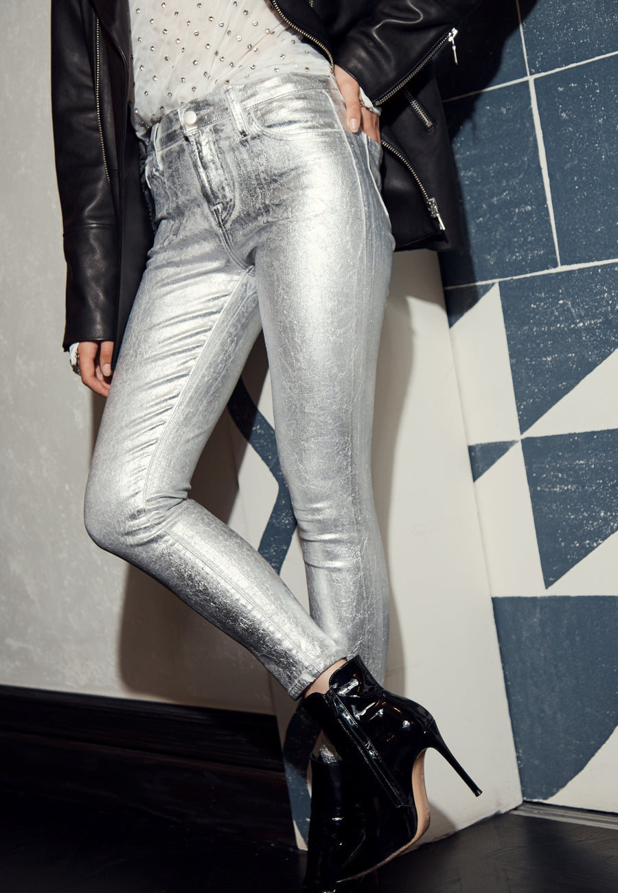 J Brand 835 Mid Rise Cropped Skinny in Supermoon