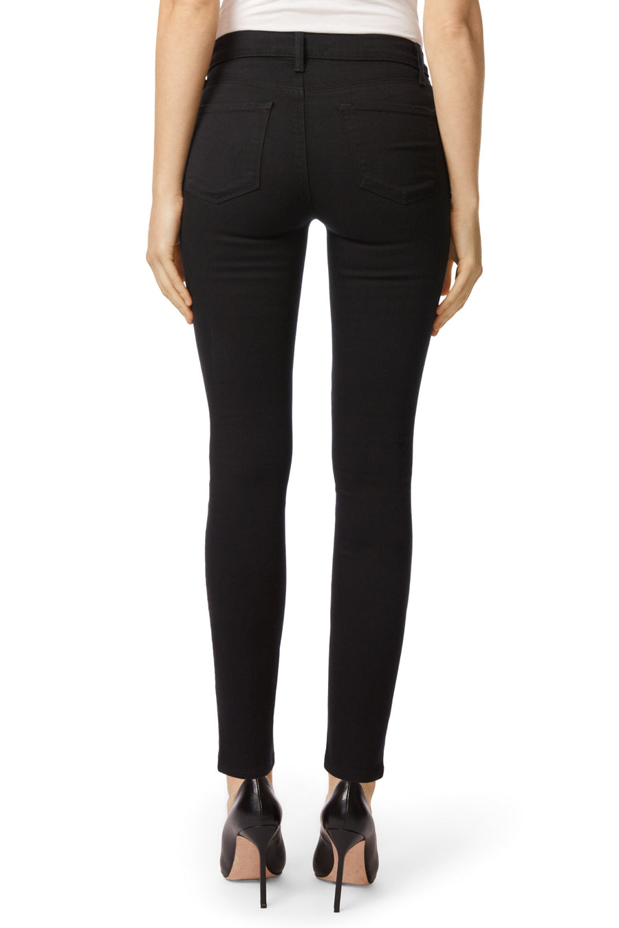 J Brand Maria High Rise Skinny in Seriously Black