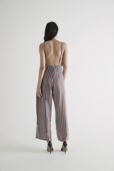 Sir. the Label Zoee Jumpsuit in Rust Stripe