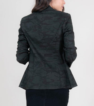 Level 99 Loretta Camo Blazer