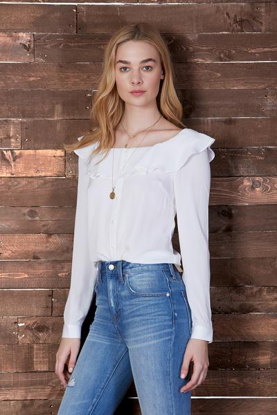 Cosette Liana Silk Blouse In White