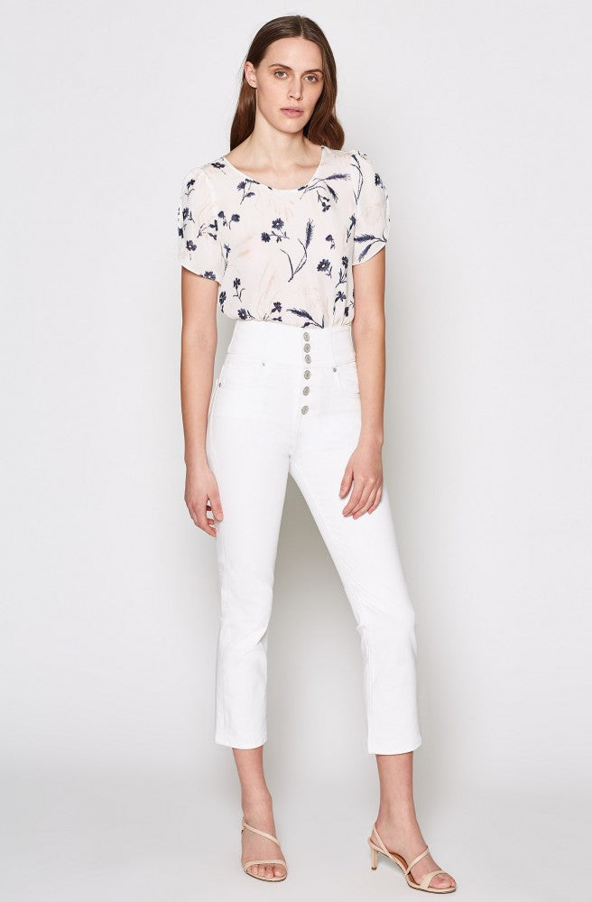 Joie Short Sleeve Floral Blouse