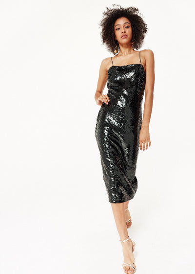 Cami NYC Camille Black Sequin Dress