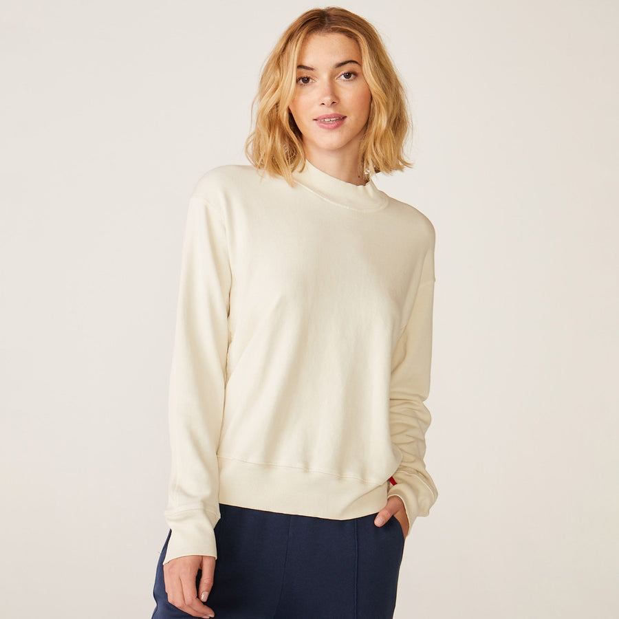 Monrow Mock Neck Seamed Top