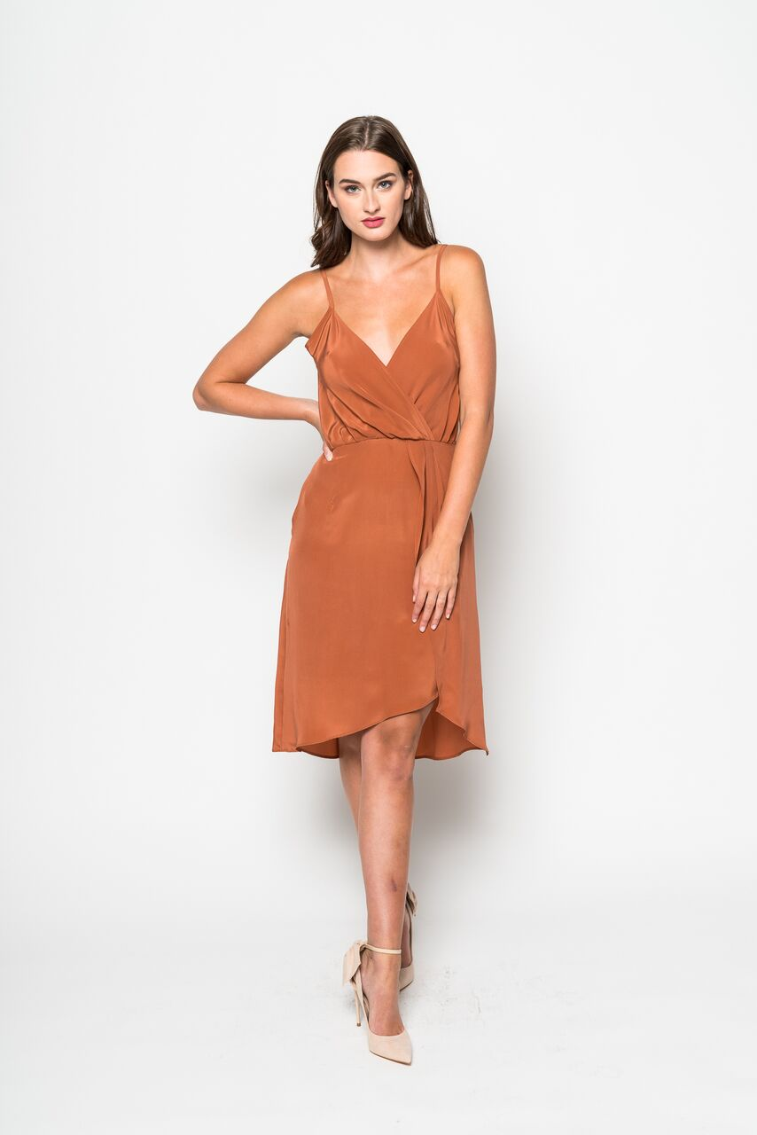 Inclán Studio Devon Dress in Burnt