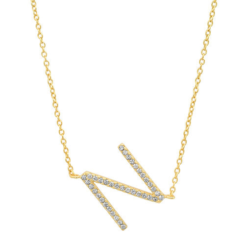 Jen Hansen Inital Necklace in Gold