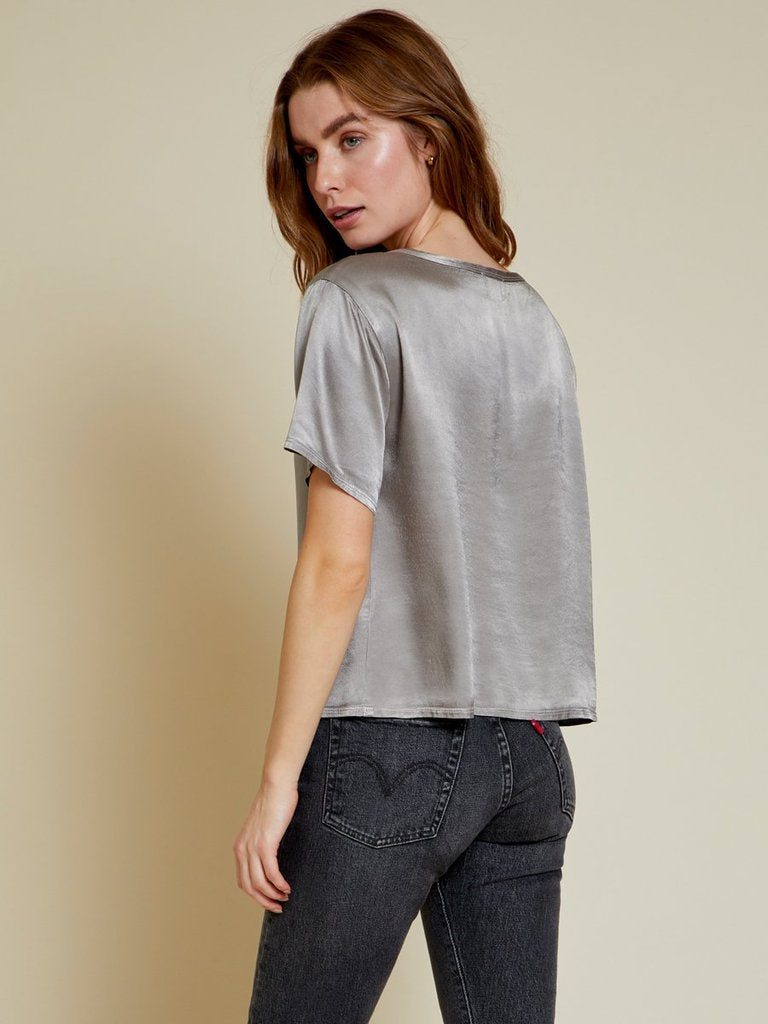Nation Neve Relaxed Boxy Tee in Ash