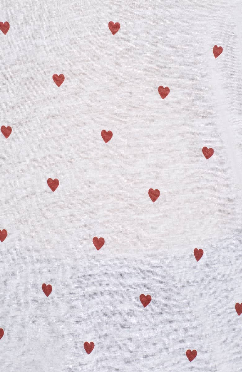 Rails Cara Tee with Red Hearts