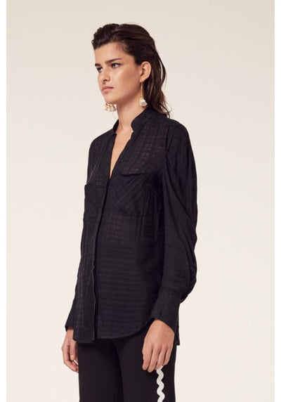 Once Was Salome Drape Sleeve Shirt