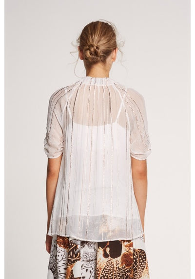 Once Was Gilded Pleated Top