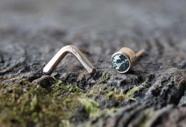 Alexis Russell Sapphire Peak Stud Earrings - Estilo Boutique