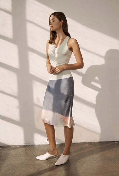 Lanston Bias Skirt in Pastel