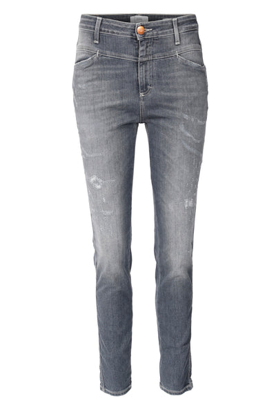 Closed Skinny Pusher Jeans in Mid Grey