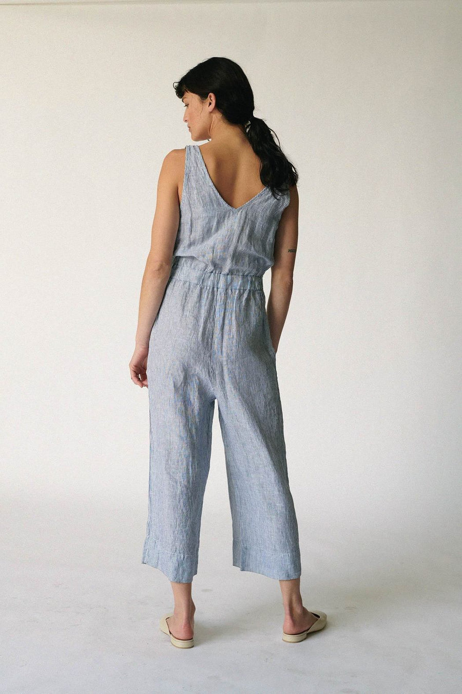Stateside Linen V Neck Jumpsuit