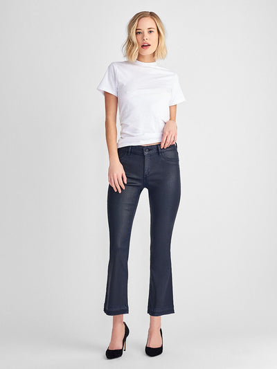 DL1961 Lara Coated Cropped Flare