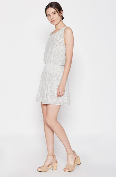 Joie Lawska Silk Dress in Porcelain/Caviar