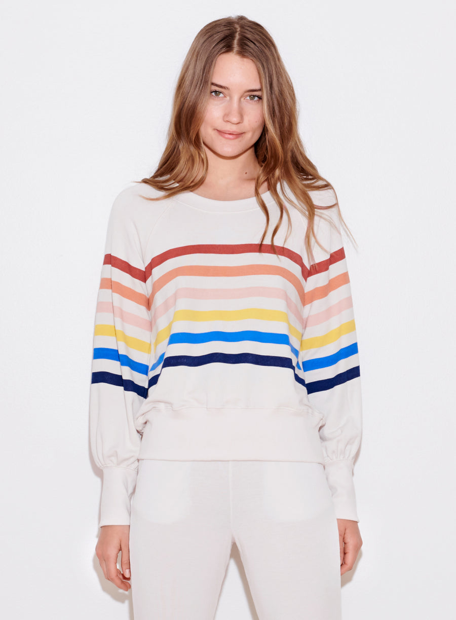 Sundry Multi Stripe Top