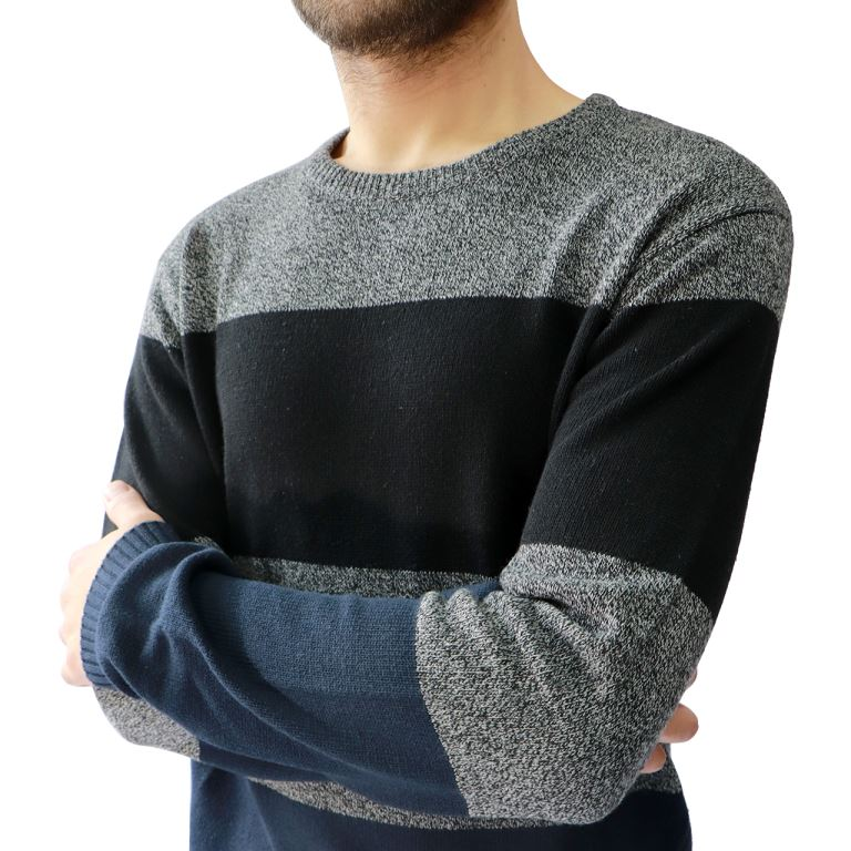 Hedge Deep Blue Block Sweater