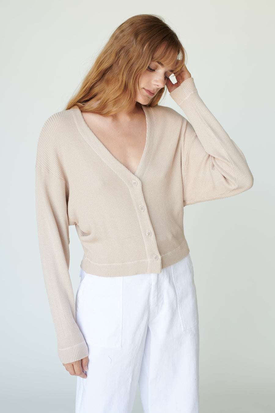 Stateside Thermal V Neck Cardigan