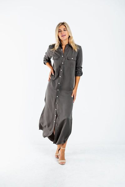 Emily Phillips Girlfriend Maxi Dress in Olive