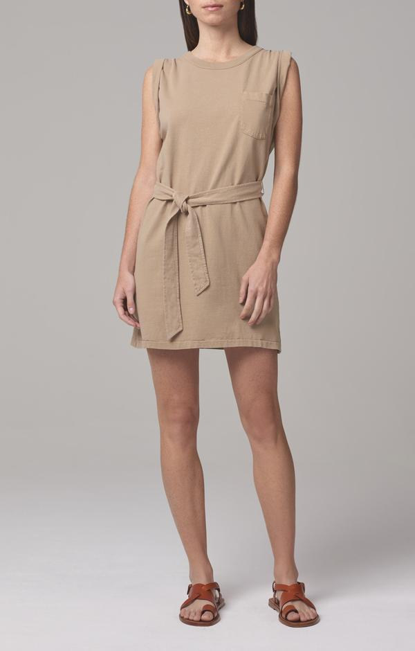 Citizens of Humanity Jordana Dress in Brown Sugar