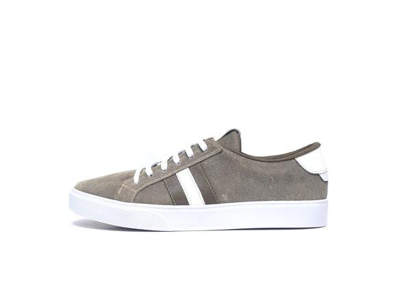 Kaanas Tatacoa Distressed Suede Lace Up Sneakers in Taupe - Estilo Boutique