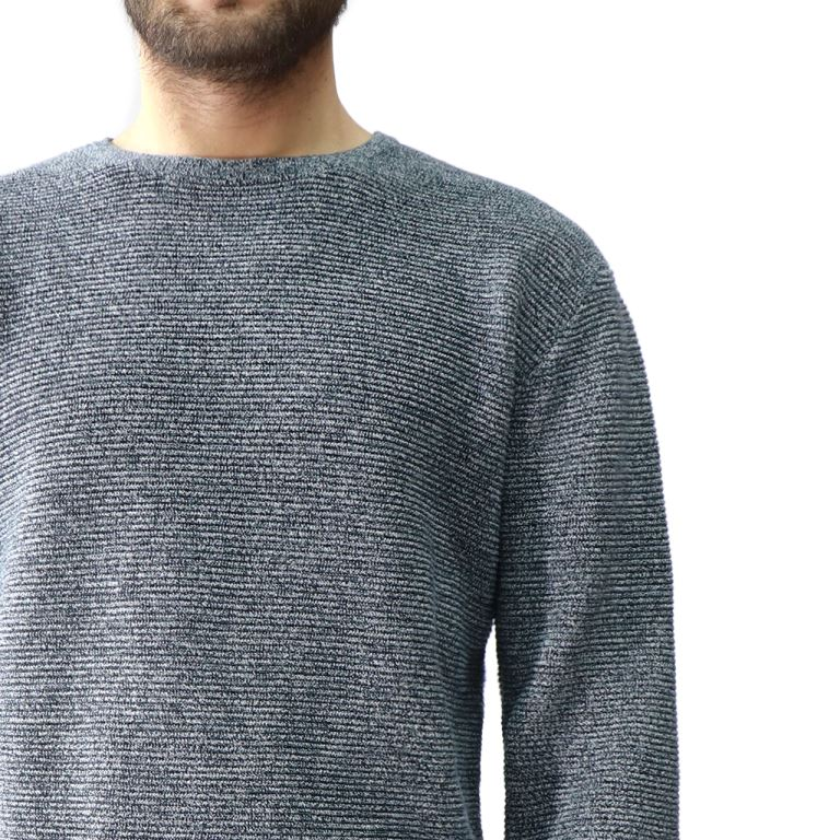 Hedge Grey Mens Knit Sweater