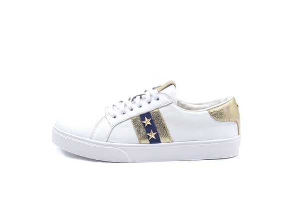 Kaanas Tatacoa Contrast Stripe Sneakers with Stars in Navy