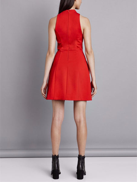 Pink Stitch Keeping Company Dress in Scarlet - Estilo Boutique