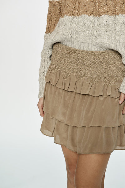 Love Same Blixen Smocked Mini Skirt