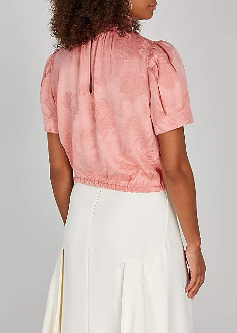 Alice and Olivia Irene Top in Rose