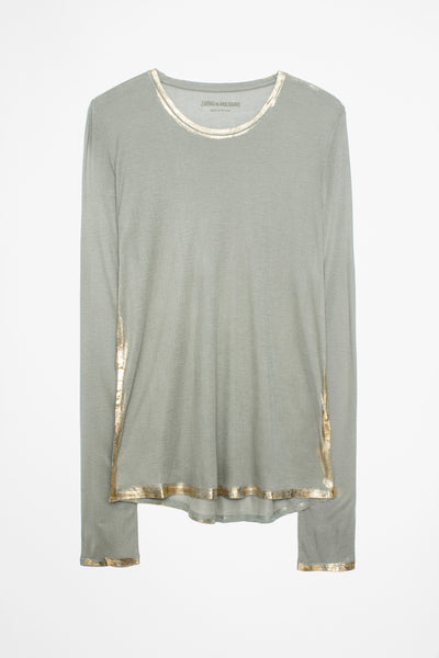 ZAdig&Voltaire Willy Gold Foil L/S Tee