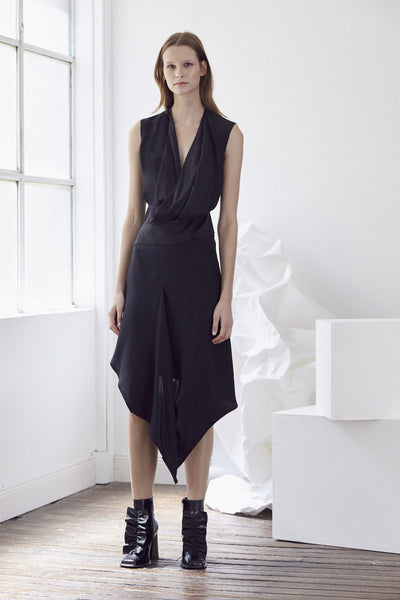 Acler Bennet Silk Dress - Black - Estilo Boutique