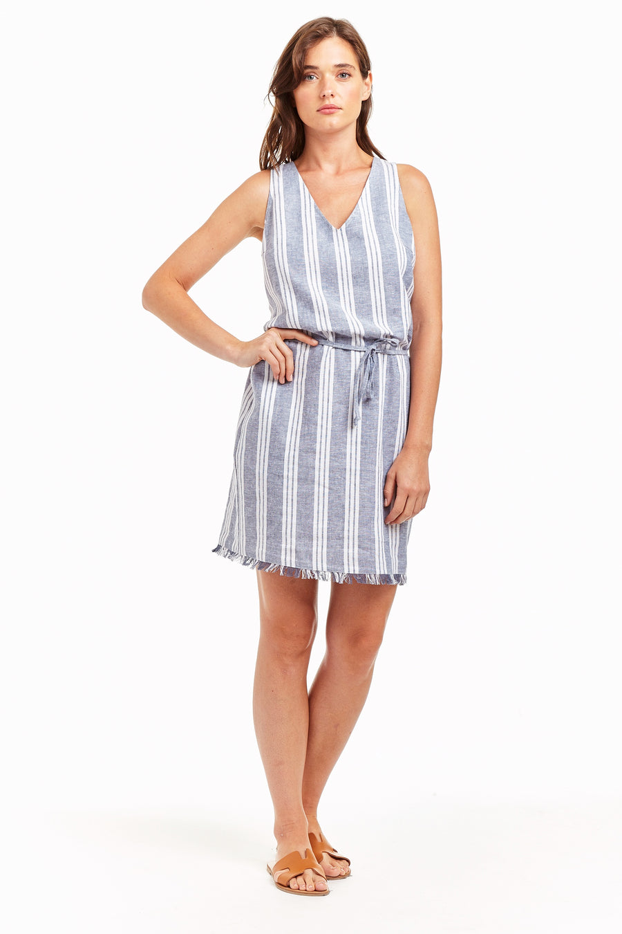 Drew Ethel Stripe Dress in Denim