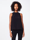 Nicole Miller Solid Silk Tank Top