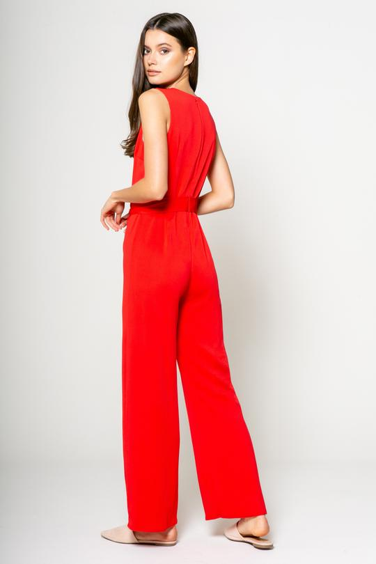 Lavender Brown Jumpsuit in Tomato