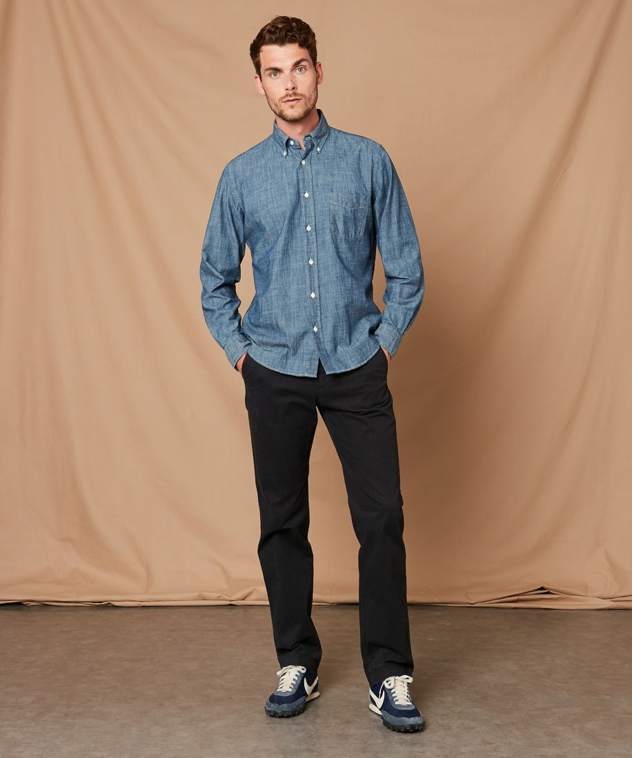 Hartford Men's Pal Chambray Shirt