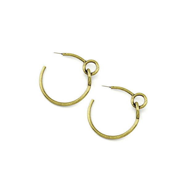 Avantgarde Amarage Hoop Earrings - Brass