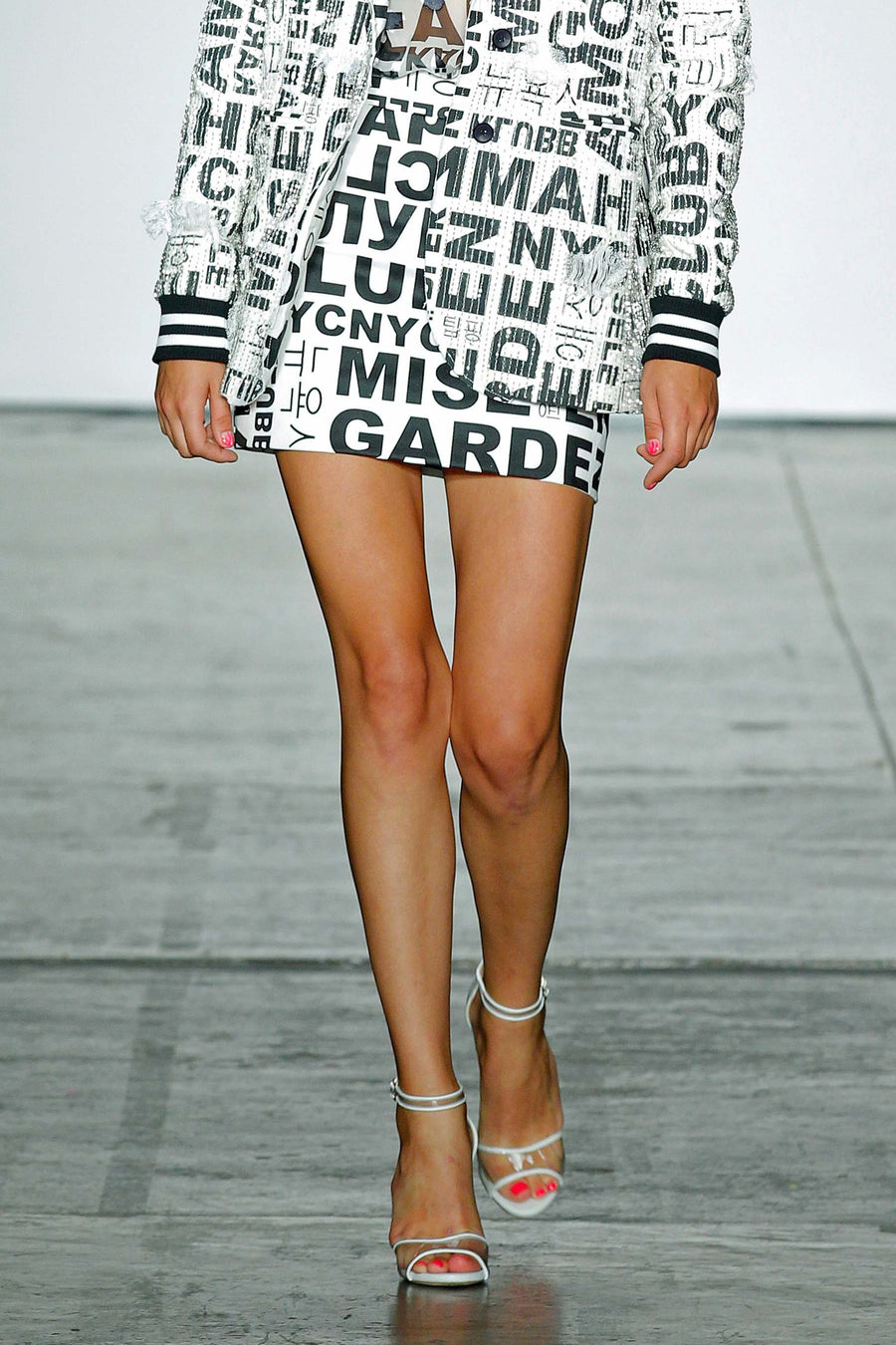Nicole Miller Words & Letters Mini Skirt