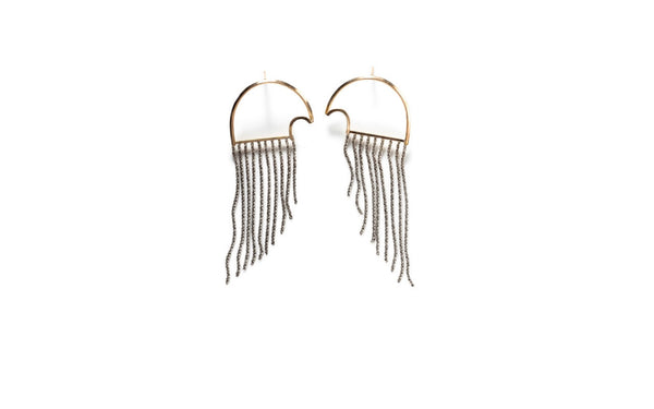 By Boe Owl Wire and Rope Earrings
