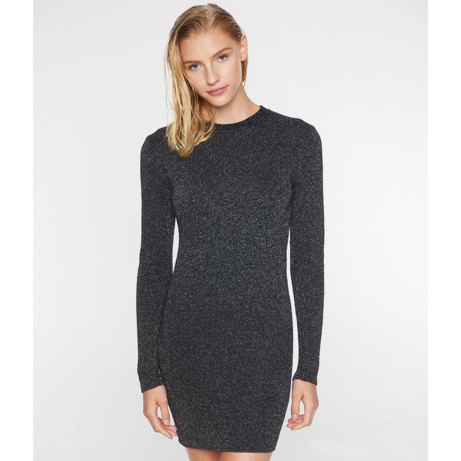 Pam & Gela Lurex Crew Neck Dress