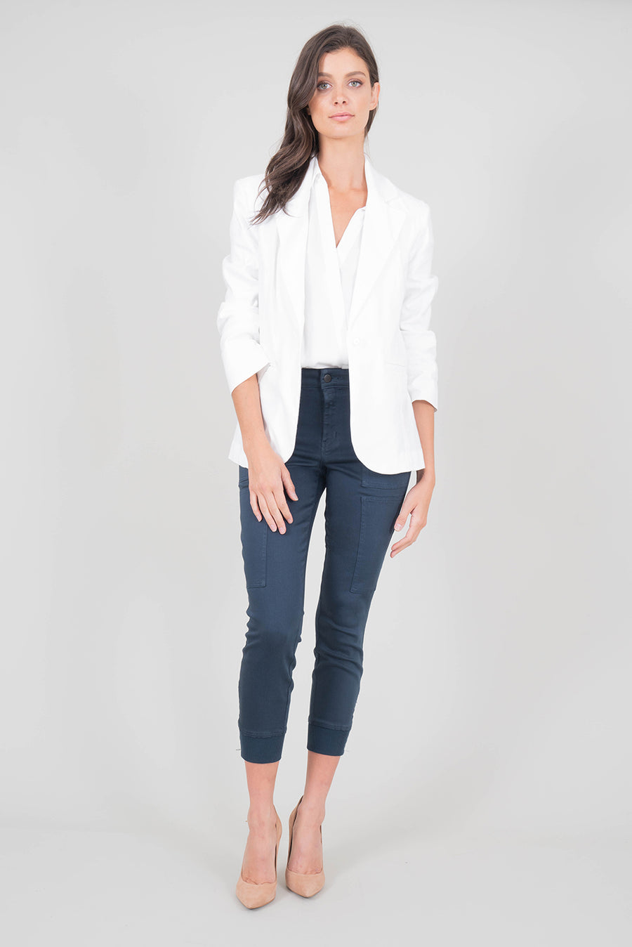 Level 99 Loretta Blazer in White