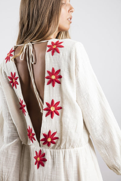 Sundress Chicago Long Dress with Daisies Embroideries
