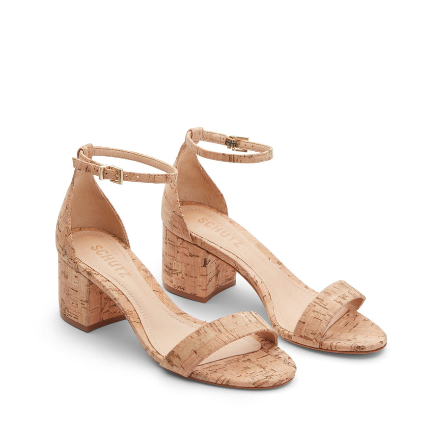 Schutz Chimes Sandal in Natural Cork