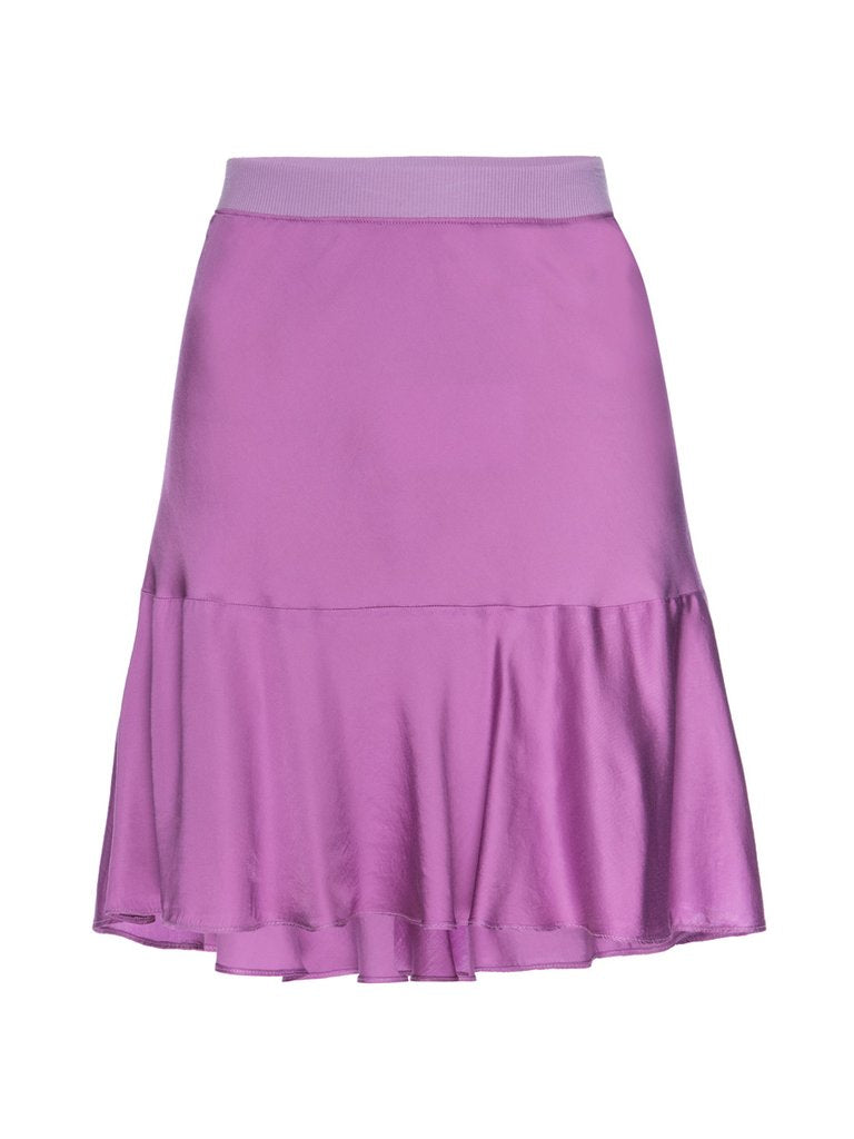 Nation Claire Bias Ruffle Skirt in Ultraviolet