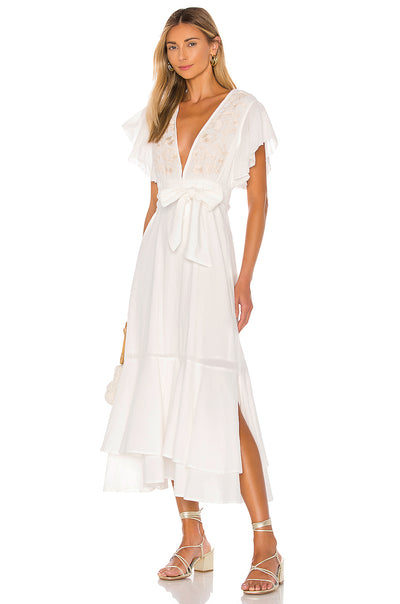 Cleobella Ivory Summer Midi Dress