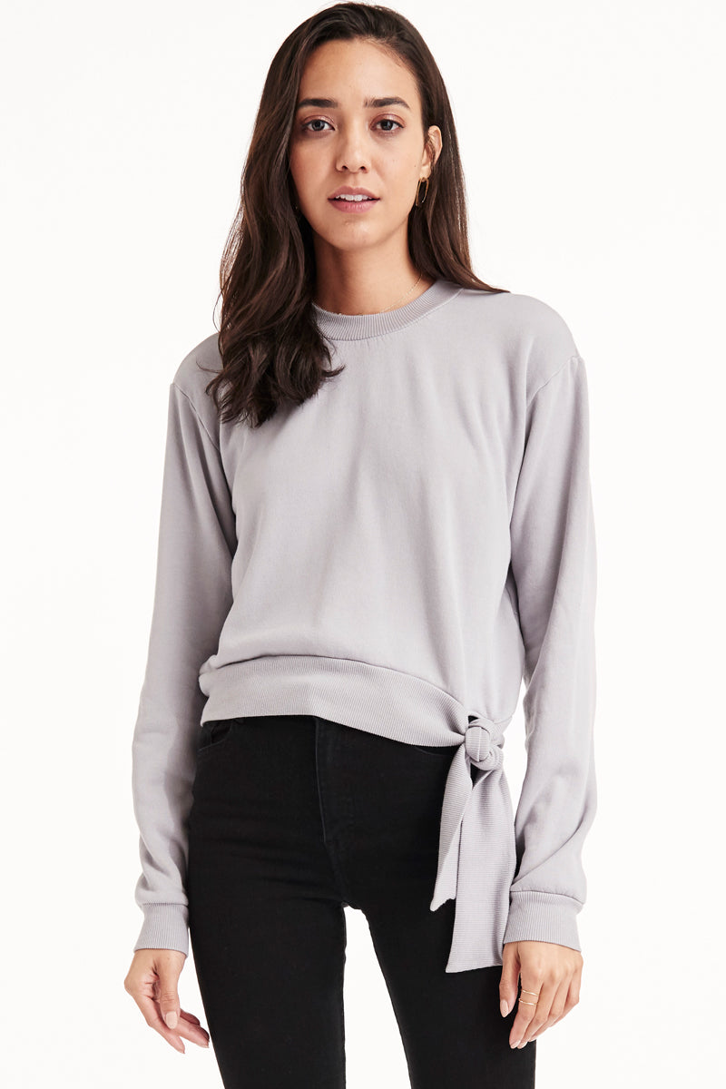 LA Made Laila Sweatshirt in Dapple Grey